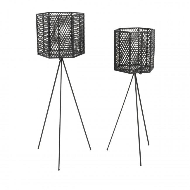 Mesh Hexagon - 2 cache-pots sur pieds en métal
