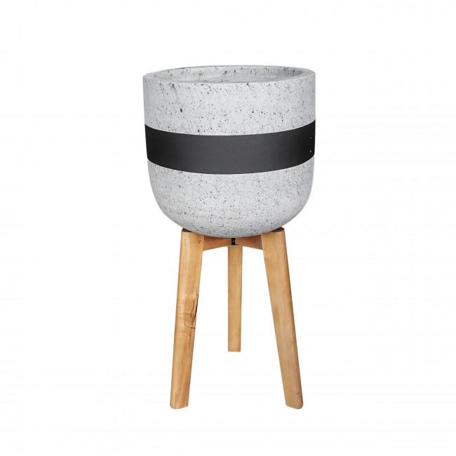 Radius - Cache-pot sur pieds en ciment