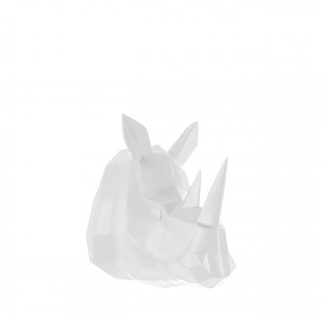 Rhino - Trophée origami en plastique mat