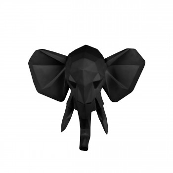 Elephant - Trophée origami en plastique mat