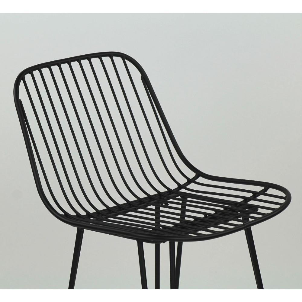 2 chaises de bar design en métal 67cm Pomax OMBRA
