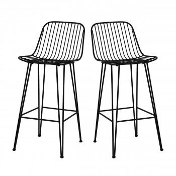 f49007f873588 Ombra - 2 chaises de bar design en métal 67cm