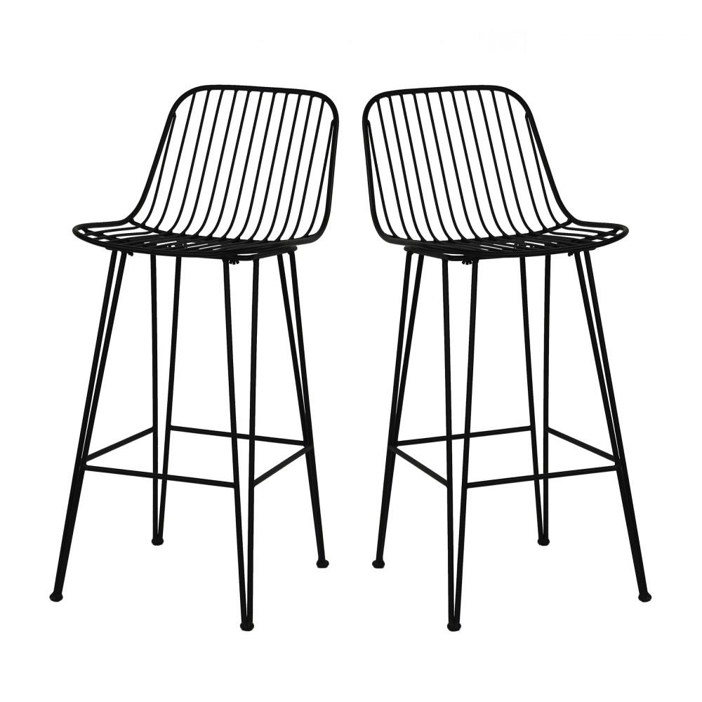 2 chaises de bar design en m tal 67cm ombra pomax drawer. Black Bedroom Furniture Sets. Home Design Ideas