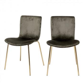 Bloom - 2 chaises pieds dorés
