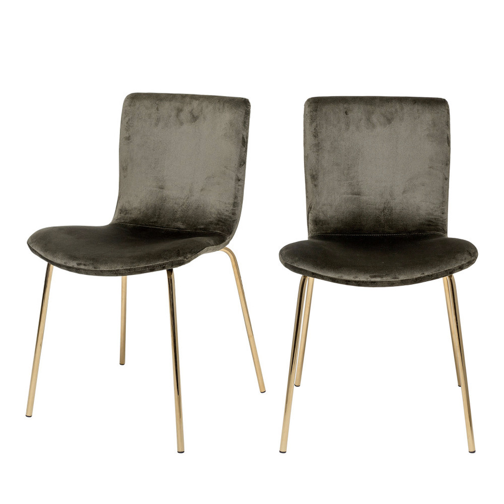 7 chaises pieds dorés Bloomingville - BLOOM