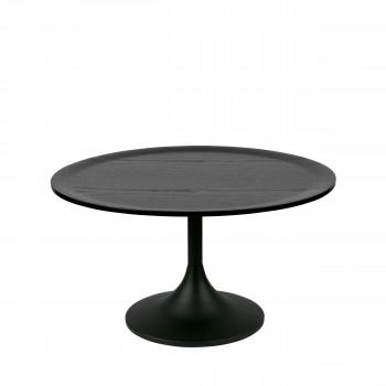 Bowie - Table Basse en chêne et métal ø70cm