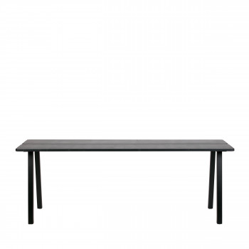 Triomf - Table À Manger en métal et bois 210x78cm