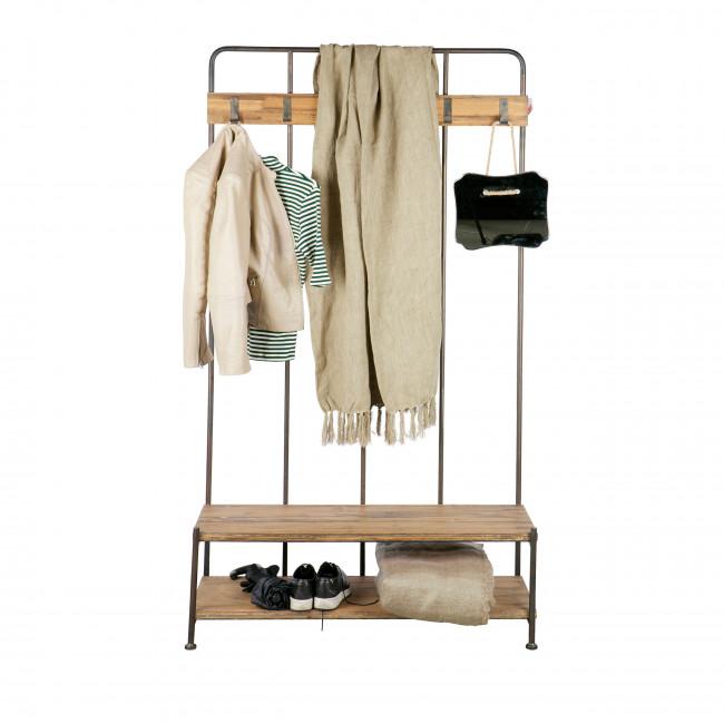 Giro - Porte-manteau en métal et bois