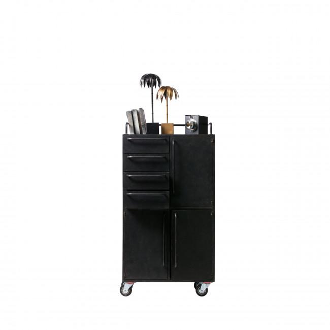 Black Beauty - Armoire à roulettes en métal