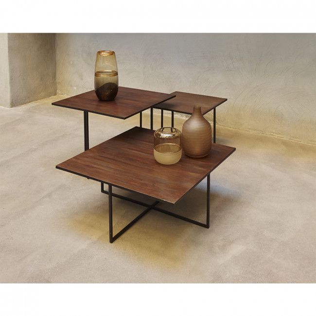 Table basse en métal 45 x 45 cm Finesse