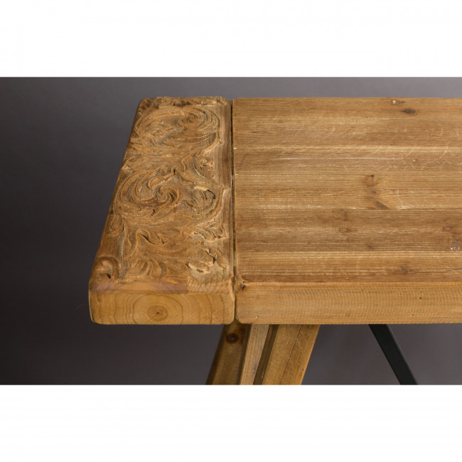 Dustin - Console en bois travaillé et métal