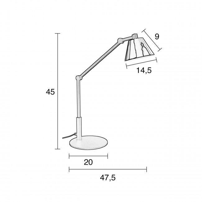 Lub - Lampe à poser en métal lacqué