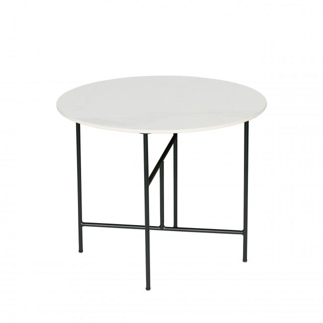 Vida - Table basse en porcelaine effet marbre 48xØ60