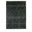 Sansa - Tapis en jute noir 170x241