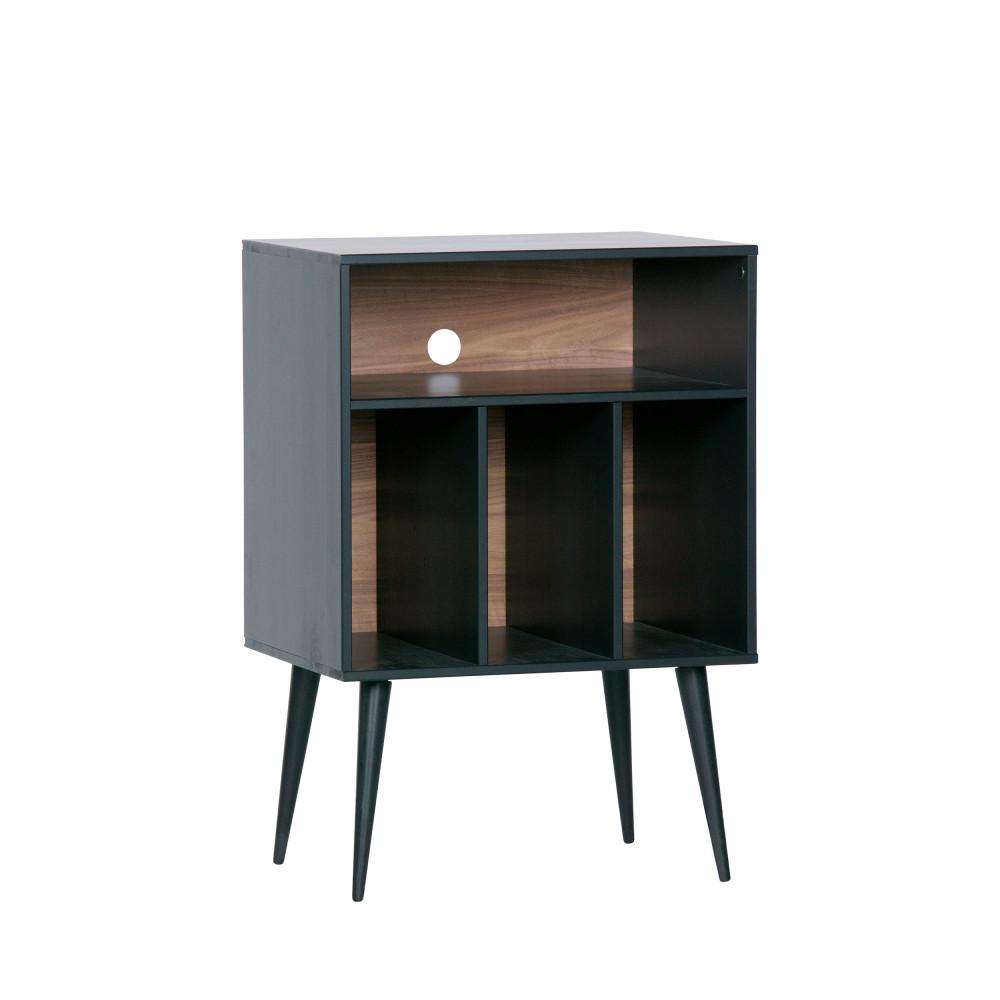 Petit Meuble Range Tout meuble de rangement vinyles en bois woood - james
