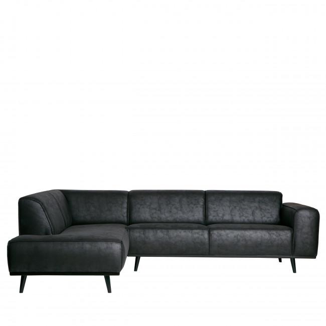 Statement - Canapé d'angle gauche en Suédine