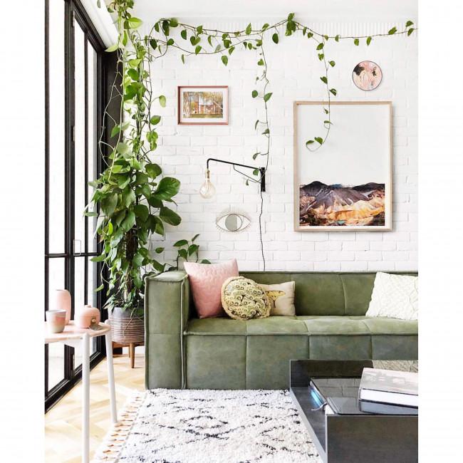 Canapé 4 places en toile Cube
