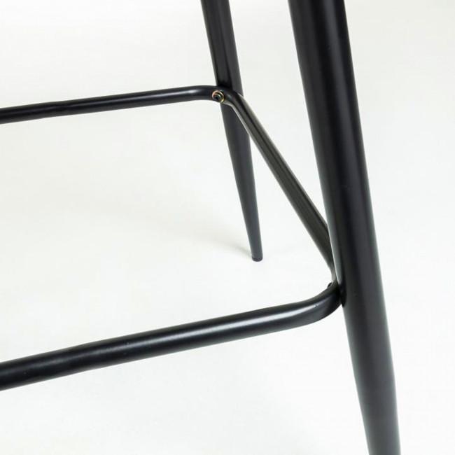 Nolite - 2 tabourets de bar en velours pieds noirs 75cm