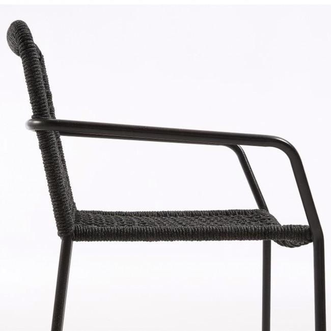 Lot de 4 chaises métal et corde Boomer