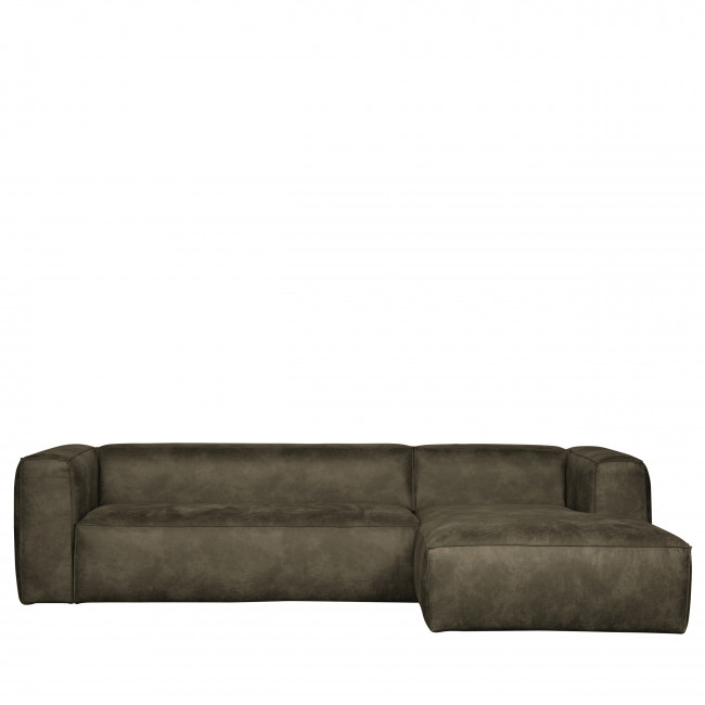 Canapé d'angle droit coloris Cognac Bean