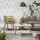 Bordeira - Canapé de jardin 2 places en bois et corde