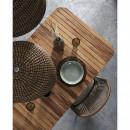 Villada - 4 chaises de jardin en métal et corde