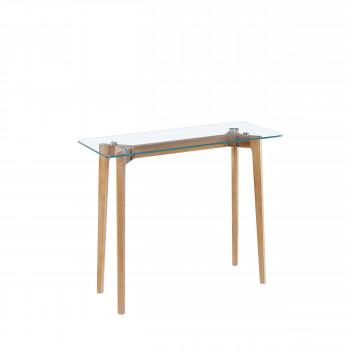 Ingmar - Console en verre et bois