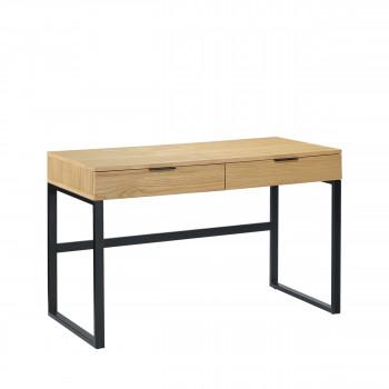 Ardmore - Bureau 2 tiroirs en bois et métal