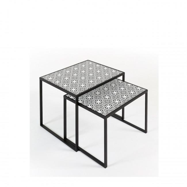 Plenas - 2 tables basses gigognes