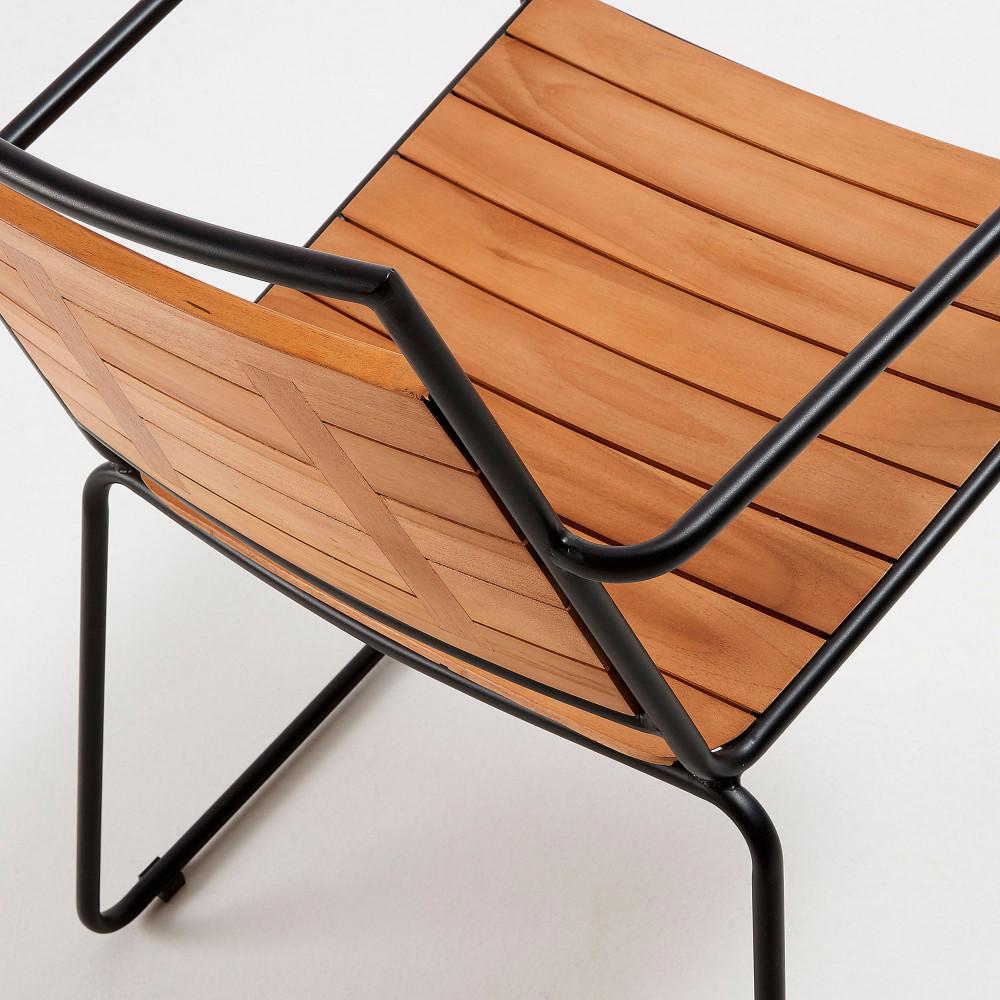 Mahide - 2 chaises de jardin en teck et métal - Drawer