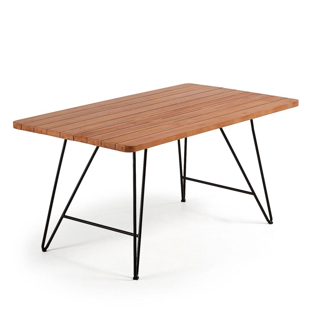 Table de jardin en teck et métal - MAHIDE
