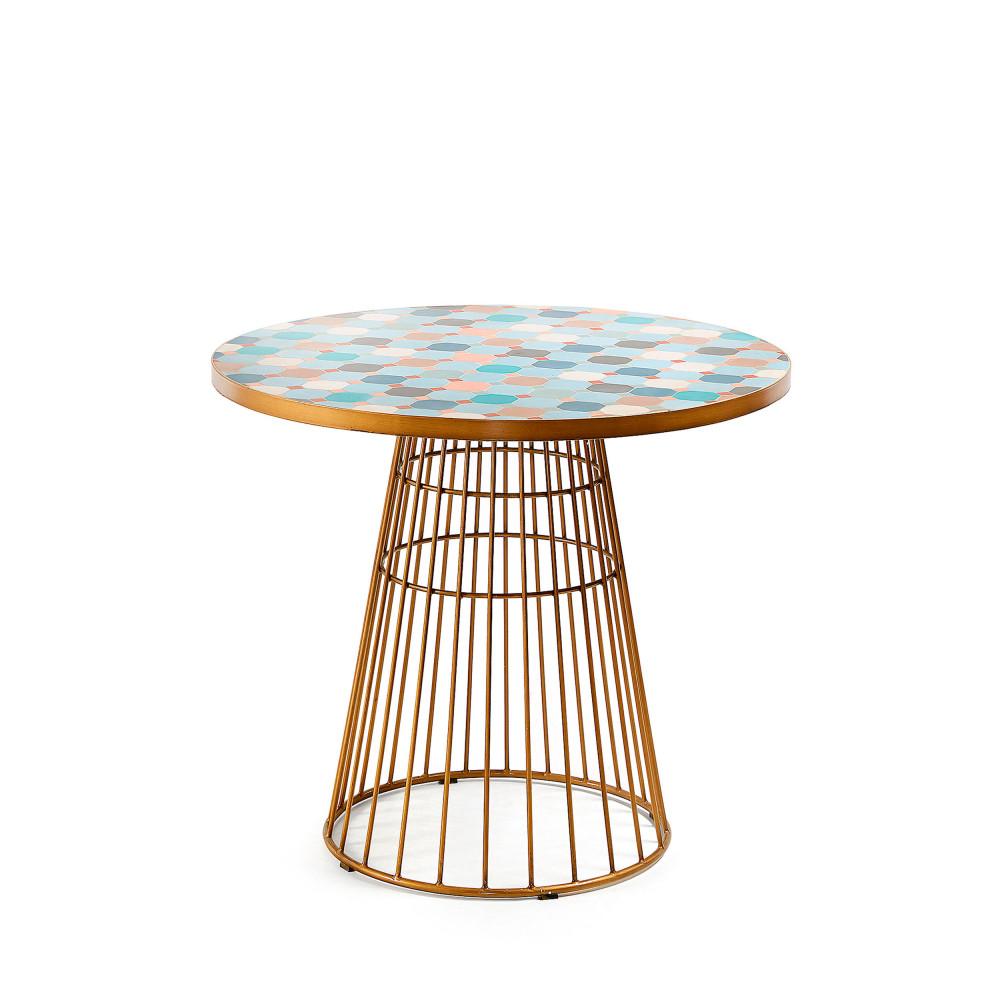 Table de jardin en métal et mosaïque - GRIEGOS