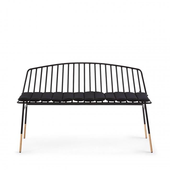 Cepero - Canapé de jardin 2 places en métal