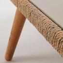 Bordeira - Table basse de jardin en bois et ciment