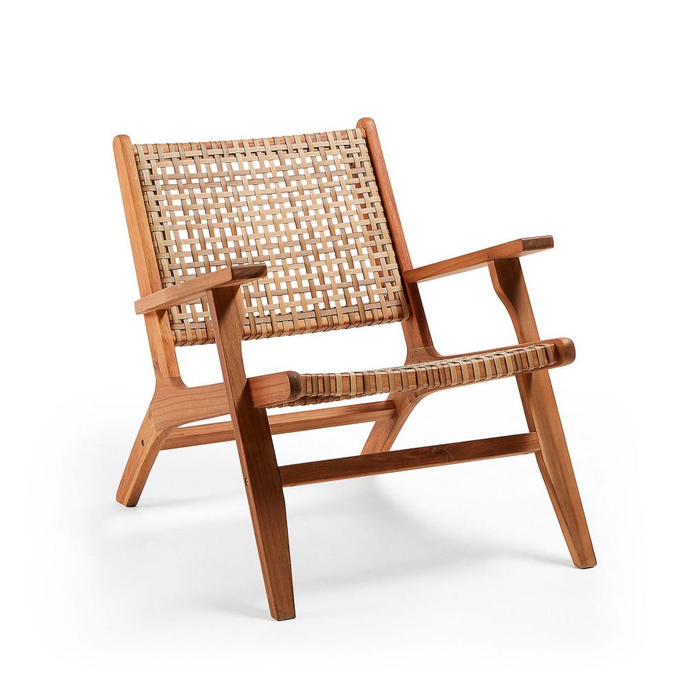 zujar fauteuil de jardin en bois et r sine tress e drawer. Black Bedroom Furniture Sets. Home Design Ideas