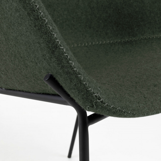 Benalua - Chaise en métal et laine