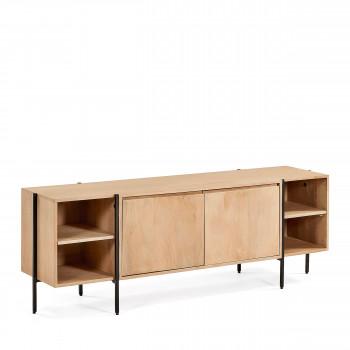 Castuera - Meuble TV en bois et métal