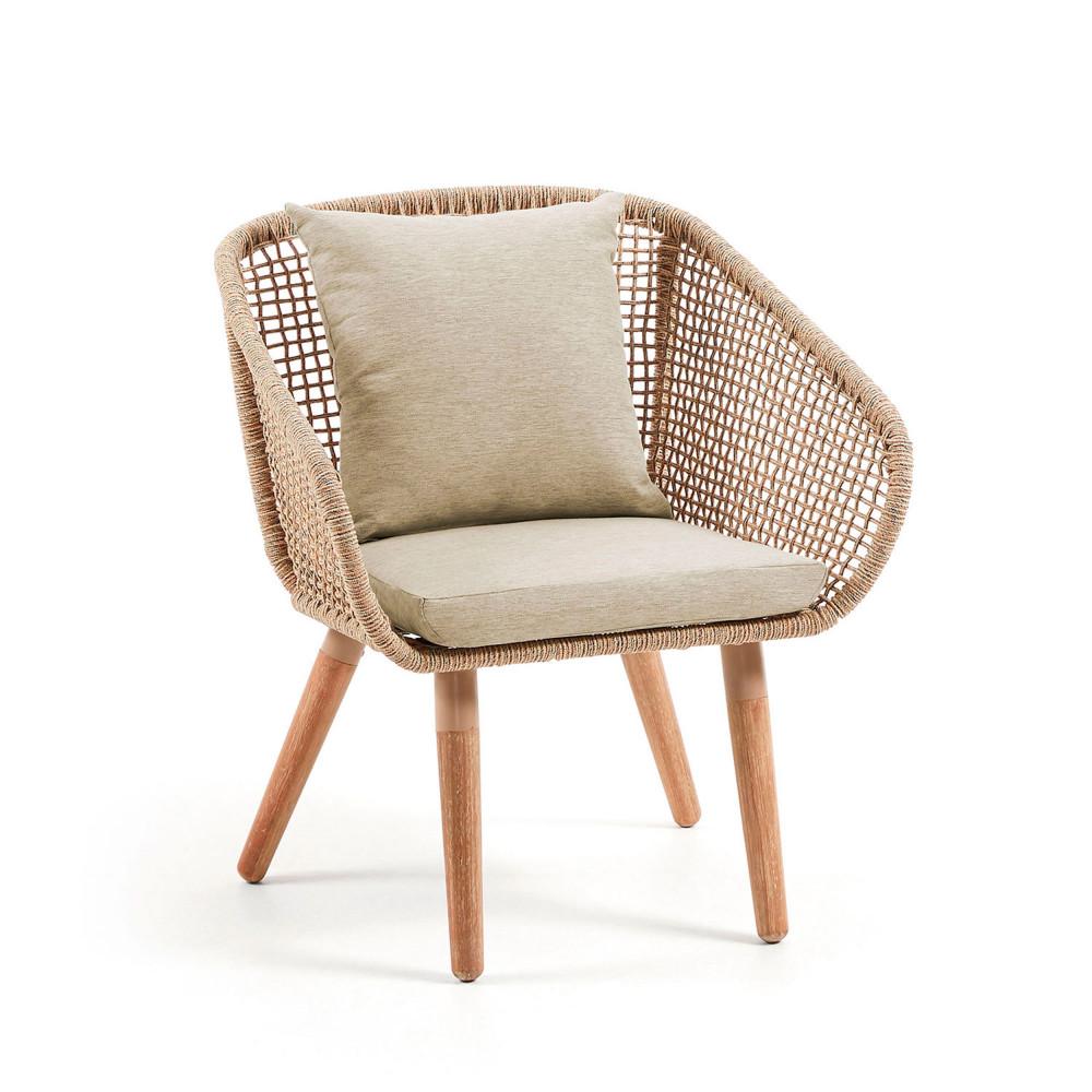 bordeira fauteuil de jardin en bois et corde drawer. Black Bedroom Furniture Sets. Home Design Ideas