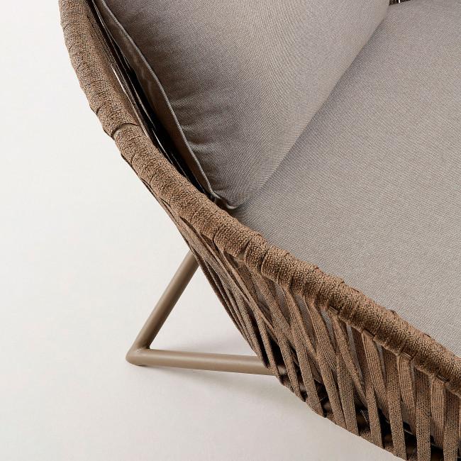 Bacoco - Fauteuil de jardin en métal et corde