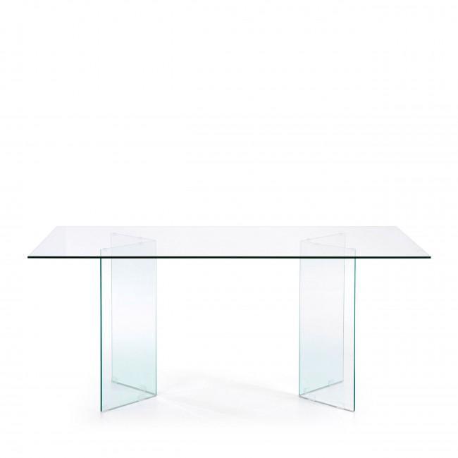 Burano - Table à manger en verre 180x90 cm