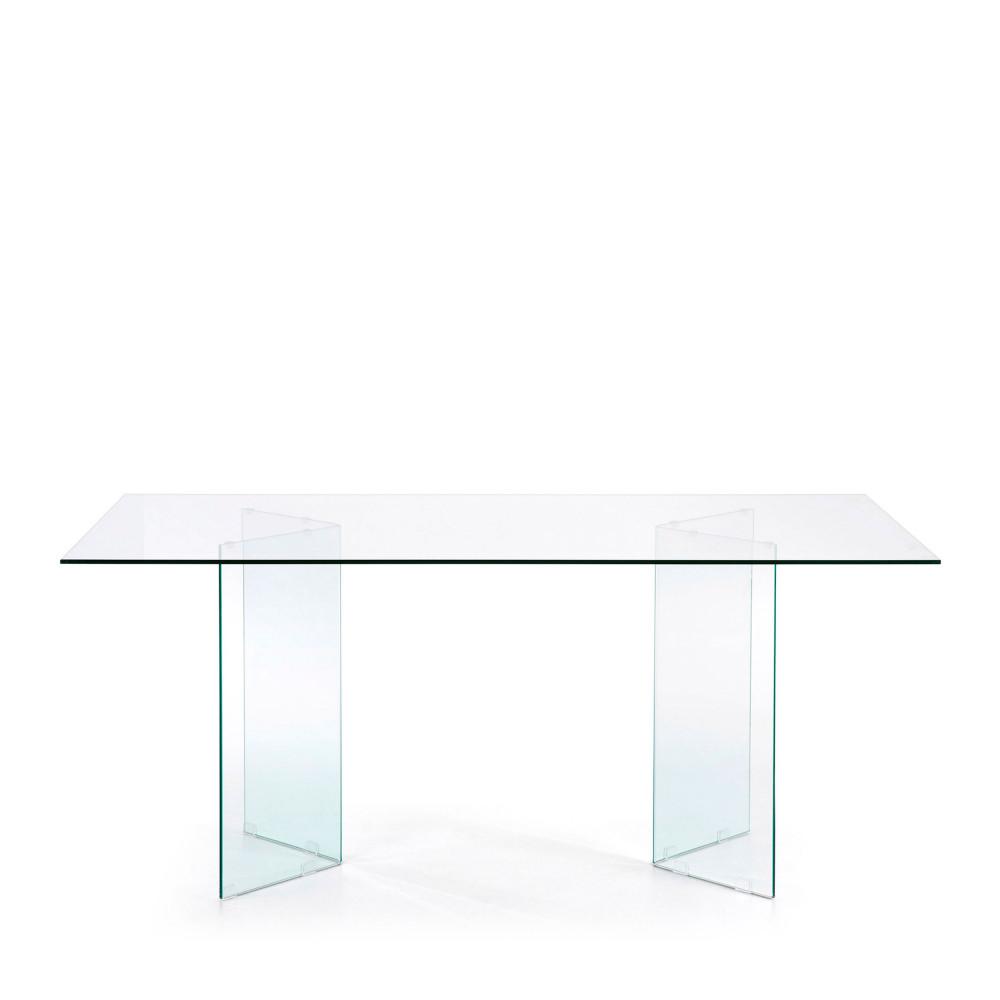 table a manger en verre 180x90 cm burano