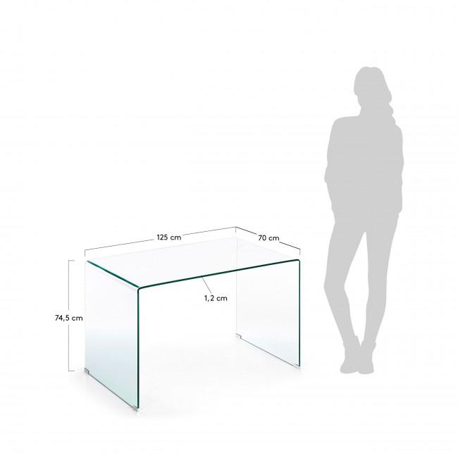 Burano - Table de bureau en verre 125x70 cm