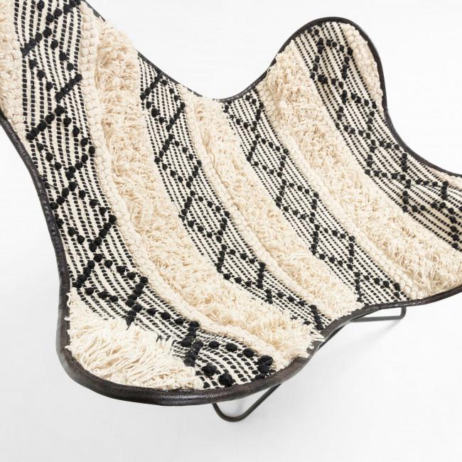 Lobillo - Fauteuil papillon en tissu et métal