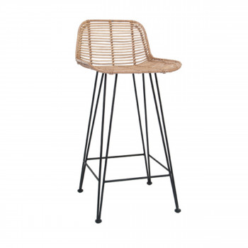 Iungla - Chaise de bar design en rotin 67 cm