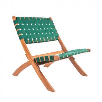 Weave - 2 Chaises en bois et nylon