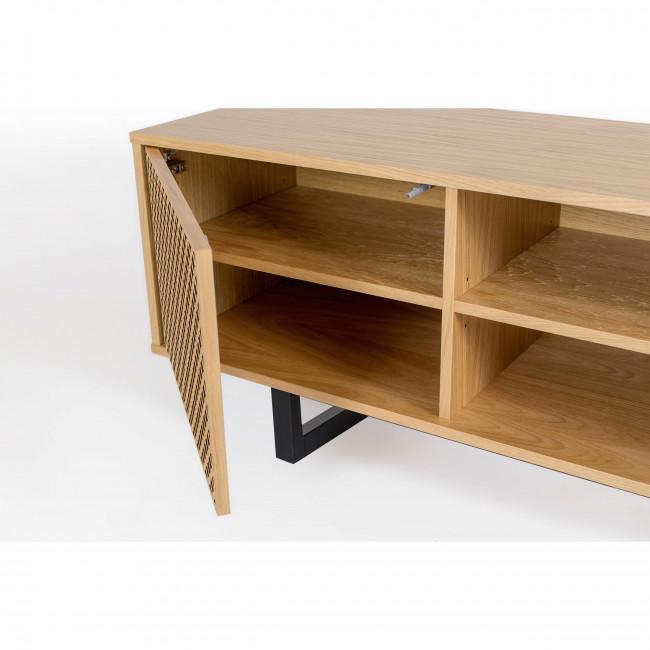 Mora - Meuble TV en bois à portes ajourées