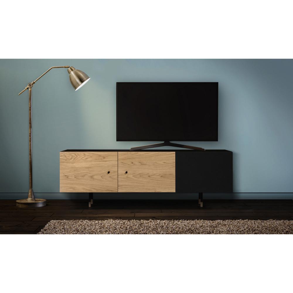 Panneau Mural Derriere Tv jugend - meuble tv en bois et métal