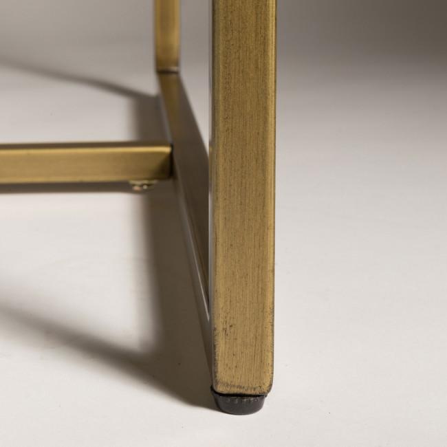 Class - table à manger en bois et laiton 240x110cm