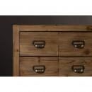 Six - Buffet en bois et métal 12 tiroirs
