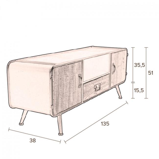 Gin - Buffet bas en bois et métal